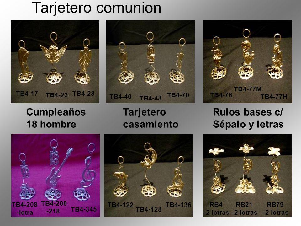 Tarjetero comunion Cumpleaños 18 hombre Tarjetero casamiento Rulos bases c/ Sépalo y letras TB4-17 TB4-23 TB4-28 TB4-40 TB4-43 TB4-70 TB4-76 TB4-77M T