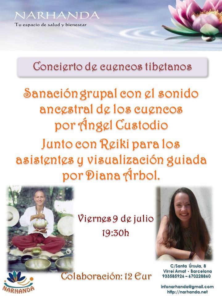 Concierto de cuencos tibetanos Sanacióngrupal con el sonido ancestral de los cuencos por Ángel Custodio Sanación grupal con el sonido ancestral de los