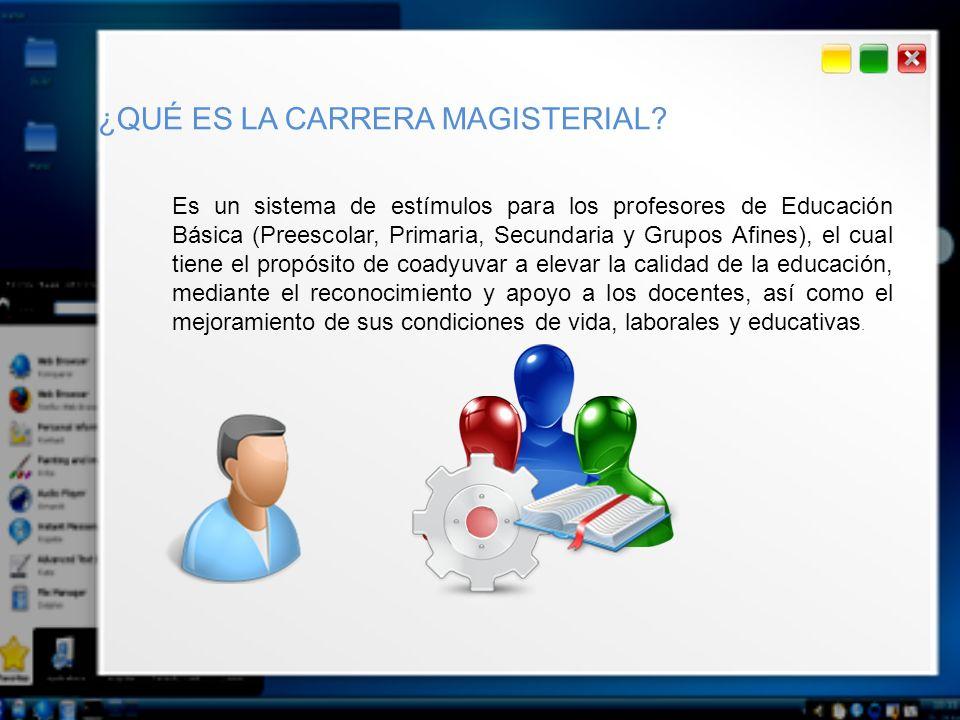 Es un sistema de estímulos para los profesores de Educación Básica (Preescolar, Primaria, Secundaria y Grupos Afines), el cual tiene el propósito de c