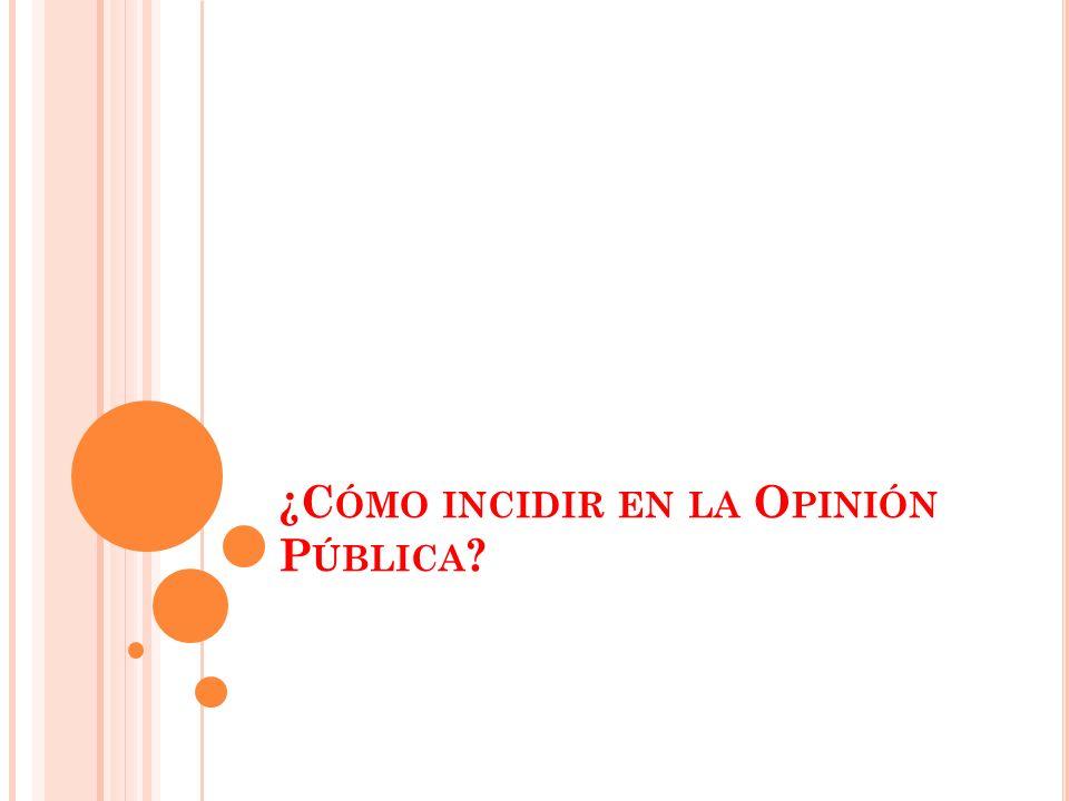 1.C ONOCER LOS TEMAS DE LA G ENTE Asuntos que están causando inquietud en la gente.