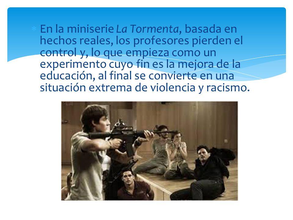 En la miniserie La Tormenta, basada en hechos reales, los profesores pierden el control y, lo que empieza como un experimento cuyo fin es la mejora de la educación, al final se convierte en una situación extrema de violencia y racismo.