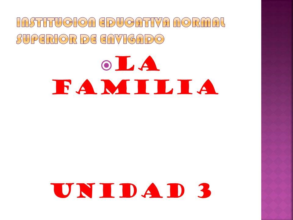 La familia Unidad 3