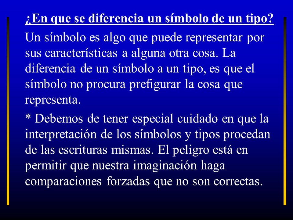 ¿En que se diferencia un símbolo de un tipo? Un símbolo es algo que puede representar por sus características a alguna otra cosa. La diferencia de un