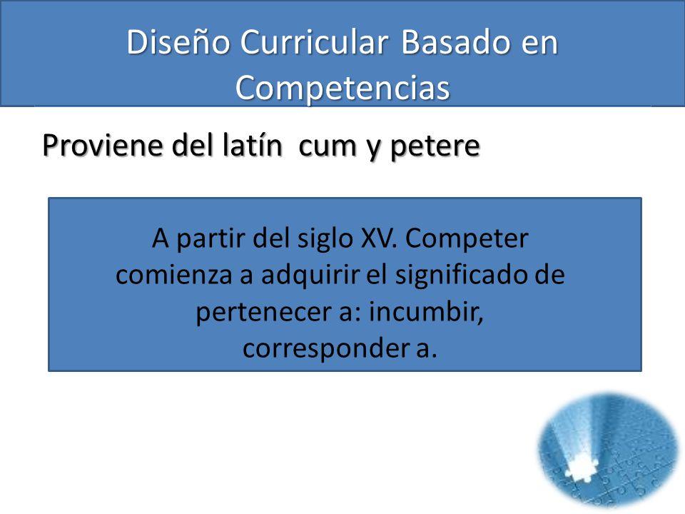 Diseño Curricular Basado en Competencias TAREA CAPACIDAD – COMPETENCIA - CUALIFICACIÓN FORMACIÓN