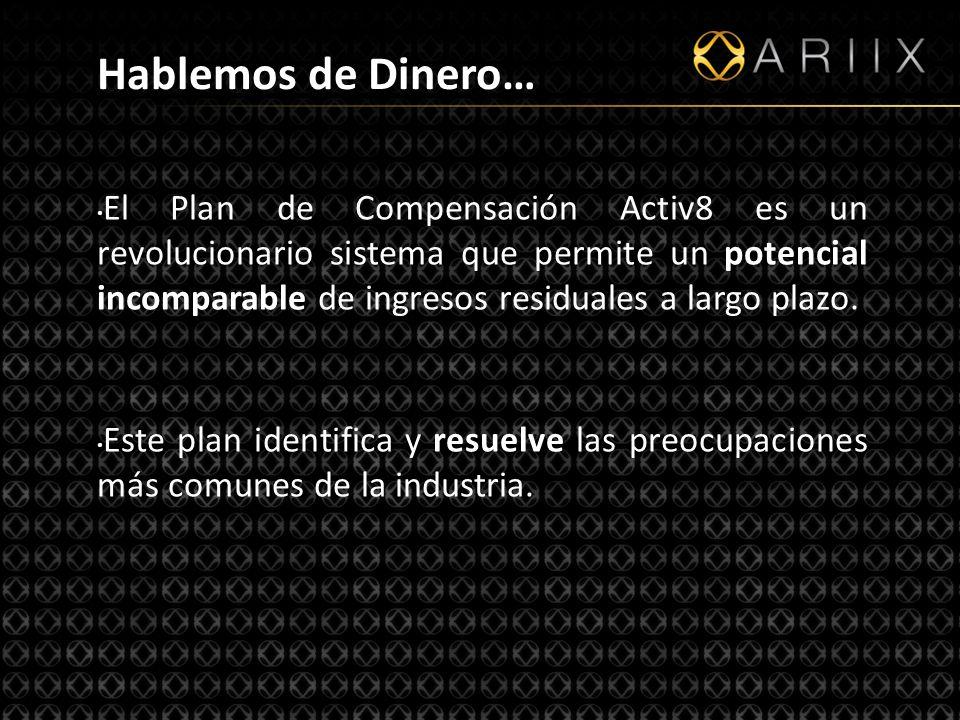 http://www.ariixlatino.net20 El Plan de Compensación Activ8 es un revolucionario sistema que permite un potencial incomparable de ingresos residuales a largo plazo.