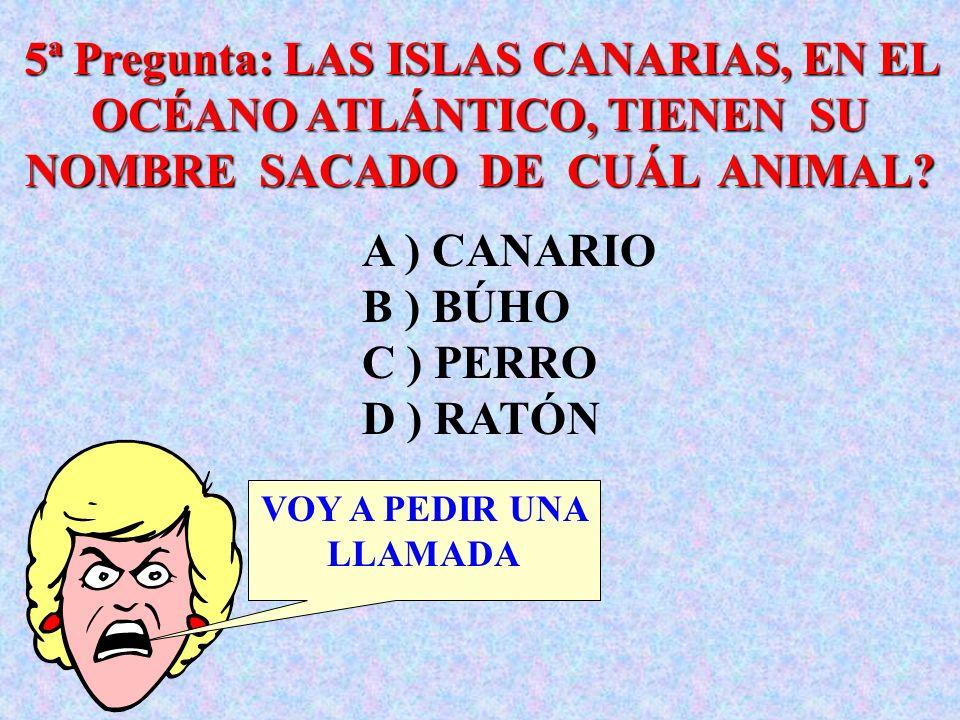 4ª Pregunta: CUÁL ERA EL PRIMER NOMBRE DEL REY GEORGE VI? YO PASO A ) EDER B ) ALBERT C ) GEORGE D ) MANUEL