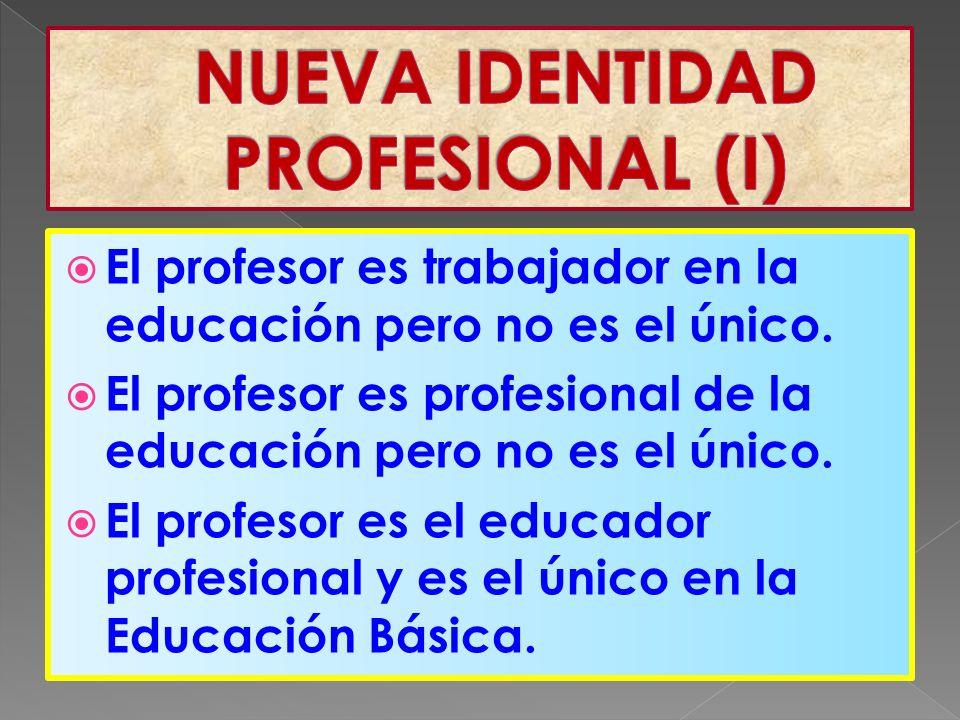 El profesor es trabajador en la educación pero no es el único.