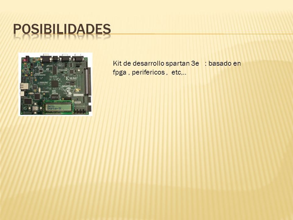 Kit de desarrollo spartan 3e : basado en fpga, perifericos, etc,..