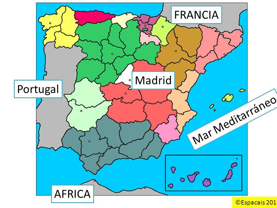FRANCIA Portugal AFRICA Mar Meditarráneo Madrid ©Espacais 2011
