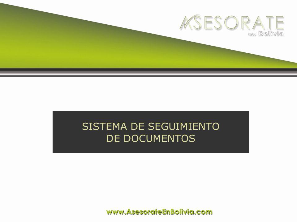 El Sistema de Seguimiento de Documentos es un sistema informático que permite el registro del flujo administrativo (WORKFLOW) de un documento, folder o expediente por las diferentes reparticiones de una institución o empresa.