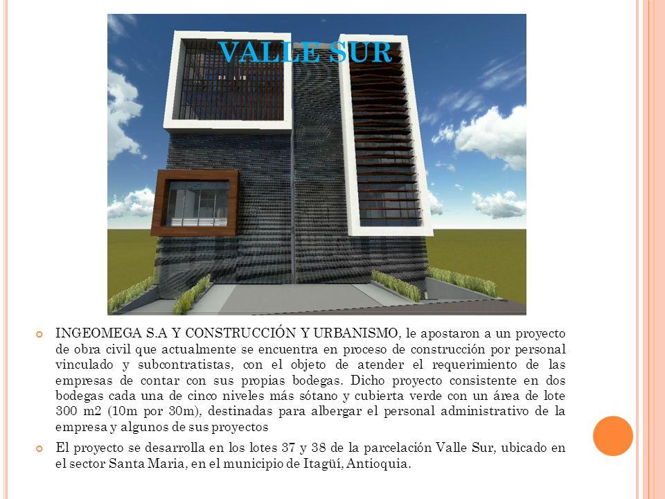 VALLE SUR INGEOMEGA S.A Y CONSTRUCCIÓN Y URBANISMO, le apostaron a un proyecto de obra civil que actualmente se encuentra en proceso de construcción p