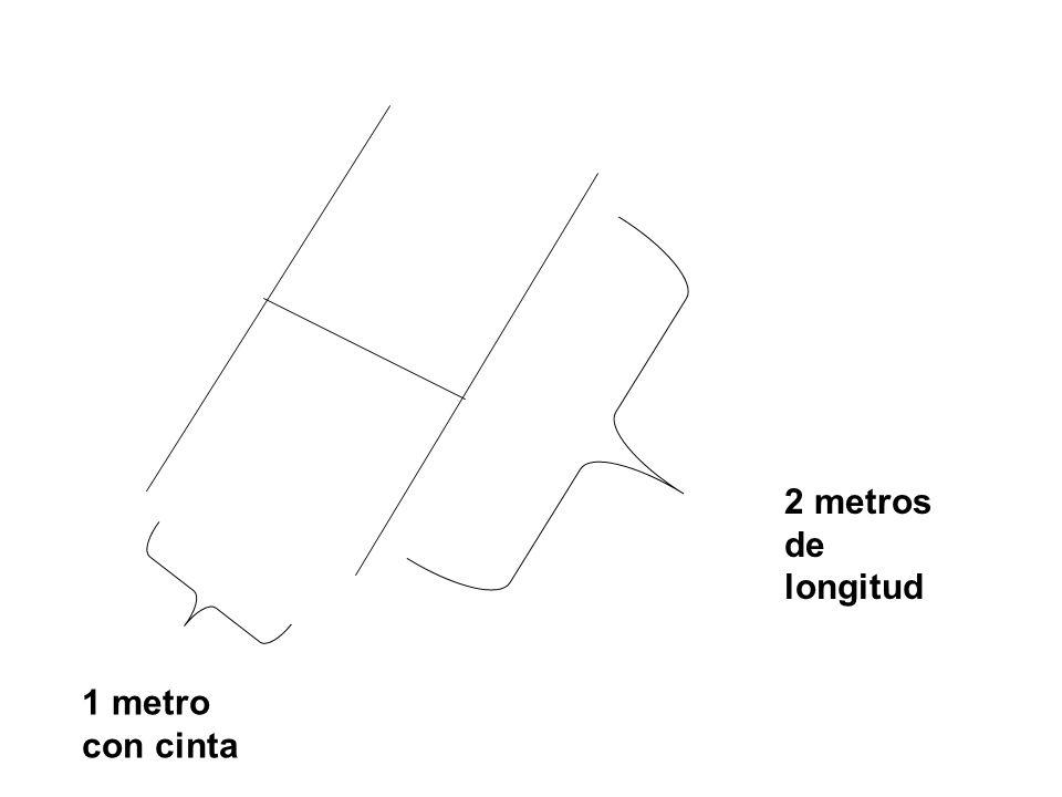 1 metro con cinta 2 metros de longitud