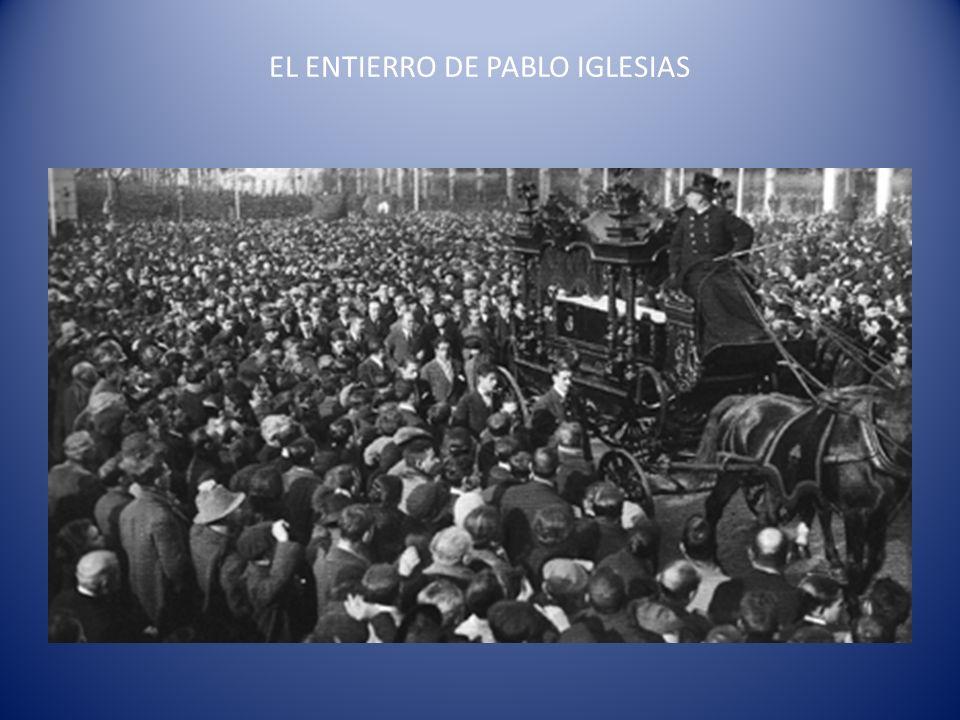 EL ENTIERRO DE PABLO IGLESIAS
