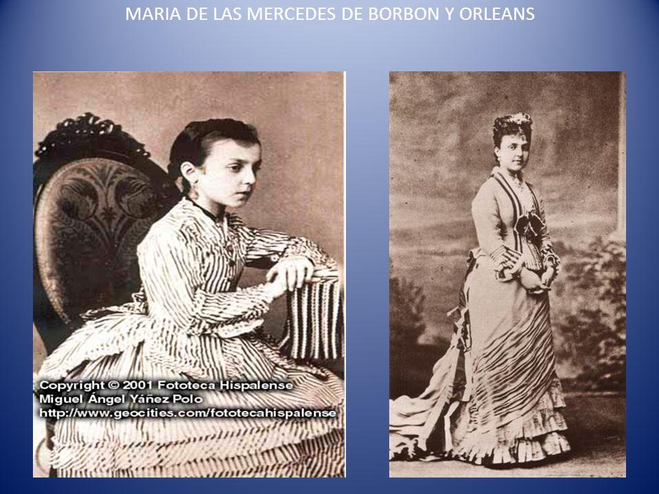 MARIA DE LAS MERCEDES DE BORBON Y ORLEANS