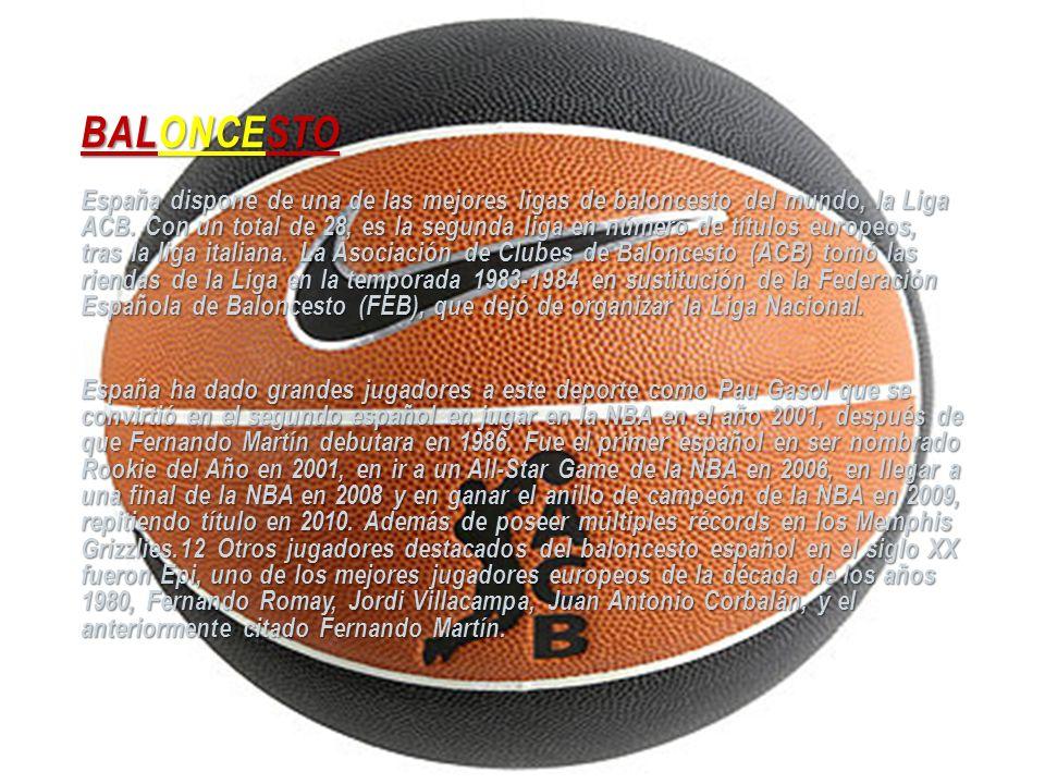 BALONCESTO España dispone de una de las mejores ligas de baloncesto del mundo, la Liga ACB. Con un total de 28, es la segunda liga en número de título