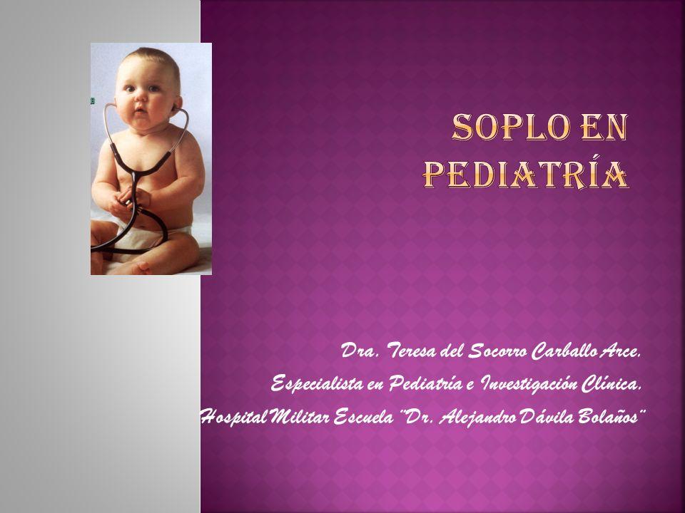 1ª causa de consulta en Cardiología Pediátrica.Soplo inocente.