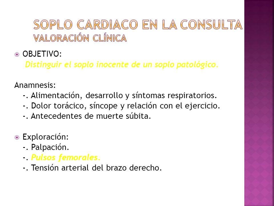 Cardiopatías Congénitas Mas Frecuentes CardiopatíaFrecuencia aproximada Comunicación interventricular (CIV)25-30 % Comunicación interauricular (CIA)10 % Ductus persistente10 % Tetralogía de Fallot6-7% Estenosis pulmonar6-7% Coartación aórtica6 % Transposición grandes arterias (TGA)5 % Estenosis aórtica5 % Canal aurículo-ventricular4-5%