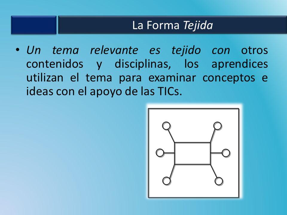 Un tema relevante es tejido con otros contenidos y disciplinas, los aprendices utilizan el tema para examinar conceptos e ideas con el apoyo de las TICs.