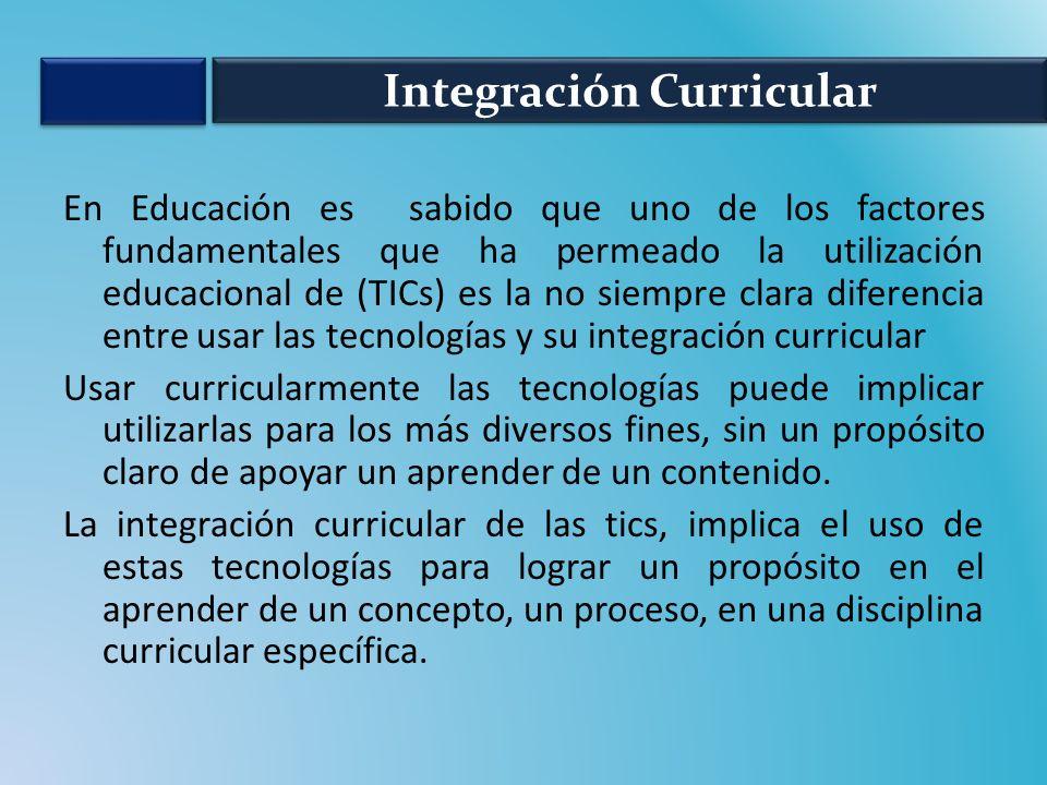 No es lo mismo usar que integrar curricularmente las TICs, así como también no es lo mismo estar en la escuela que estar en el aula aprendiendo, Apresto 1.