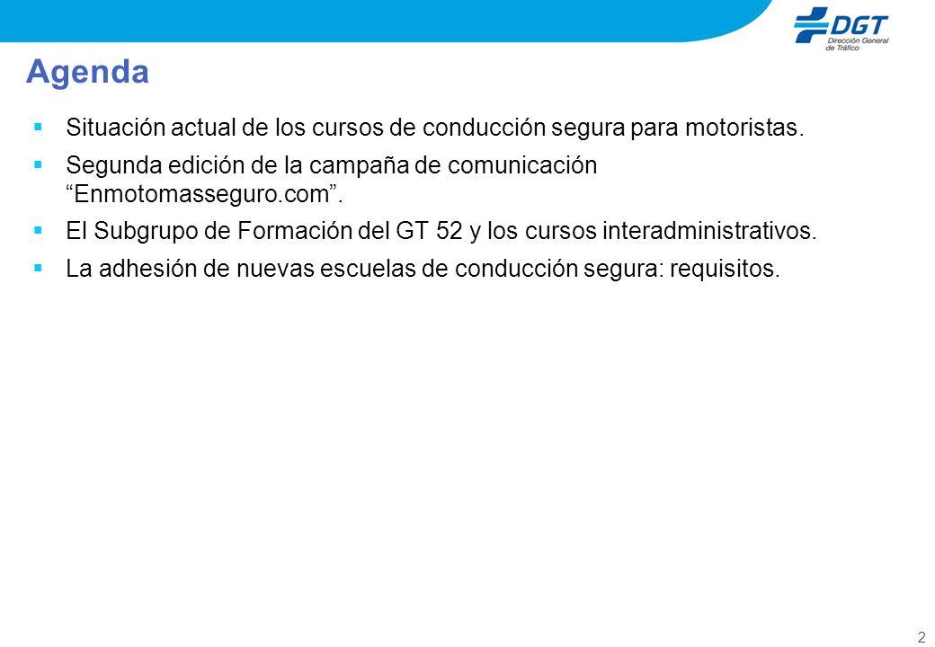 3 Situación actual de los cursos de conducción segura Escuela de Conducción Nº de alumnos zona urbana Nº de alumnos carretera CNAE ENCM 50225 GROC FORMACIÓ HIS 10 POOLBOX 0125 RACC RFME RMCE TAC 11662 TOTAL 176412