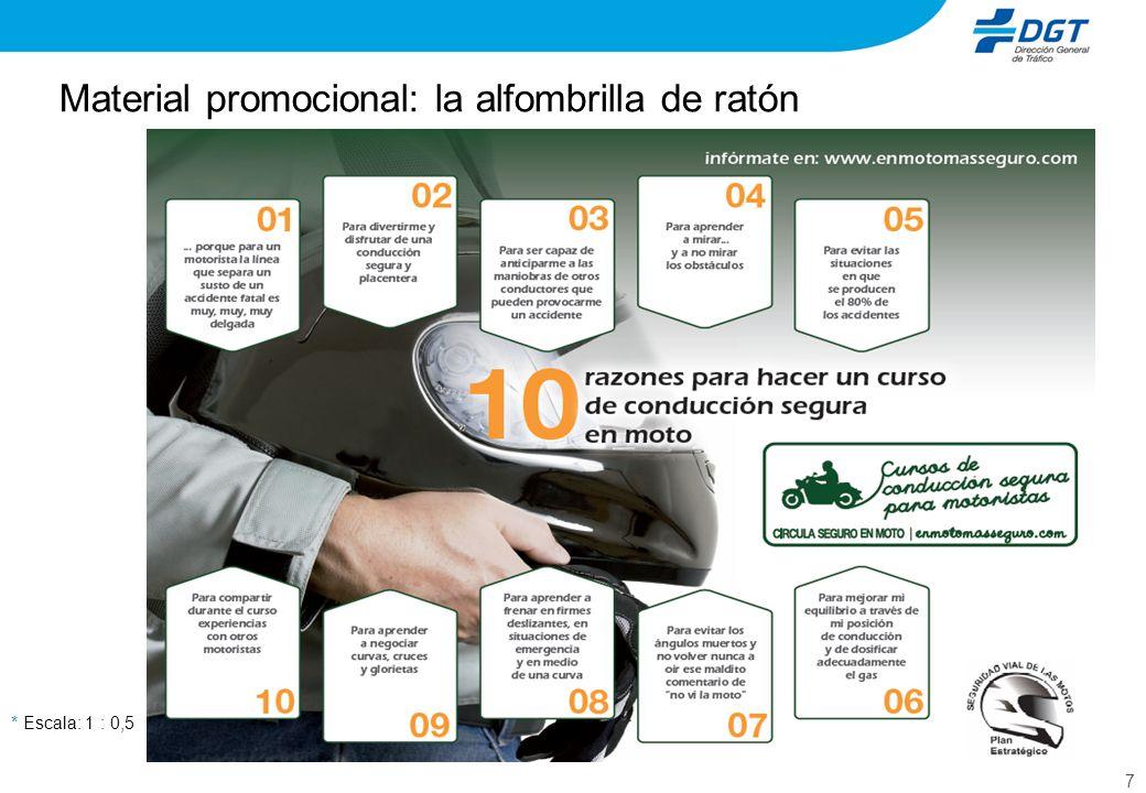 8 Segunda edición de la campaña de comunicación Objetivo: Estimular la demanda de los cursos de conducción segura para motoristas, resaltando las ventajas, el valor añadido para la conducción y la disponibilidad de formatos: carretera y zona urbana.