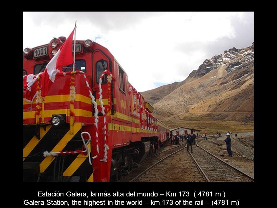 Túnel de La Galera (Punto más alto 4782 m.s.n.m.) La Galera Tunnel (the highest point 4,782 m.o.s.l.)