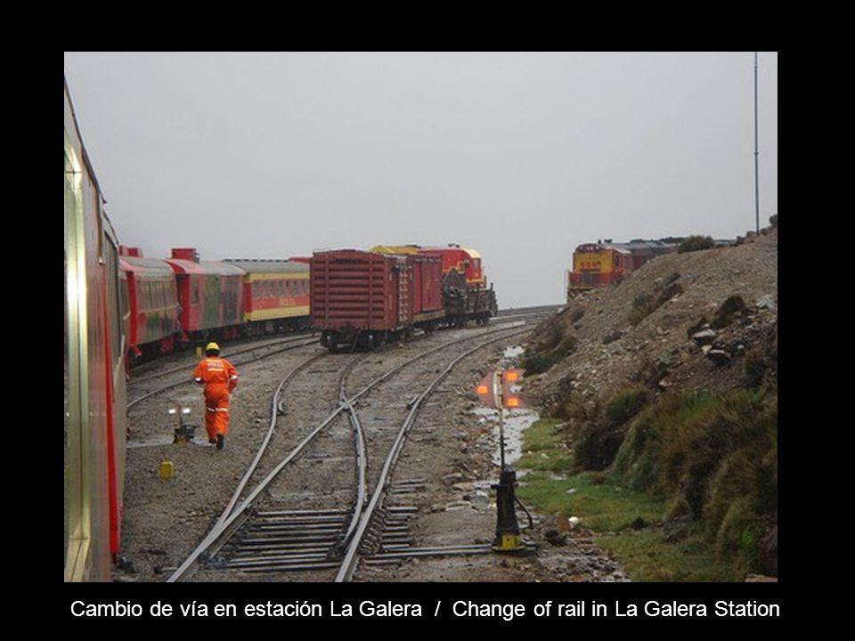 Estación Galera, la más alta del mundo – Km 173 ( 4781 m ) Galera Station, the highest in the world – km 173 of the rail – (4781 m)