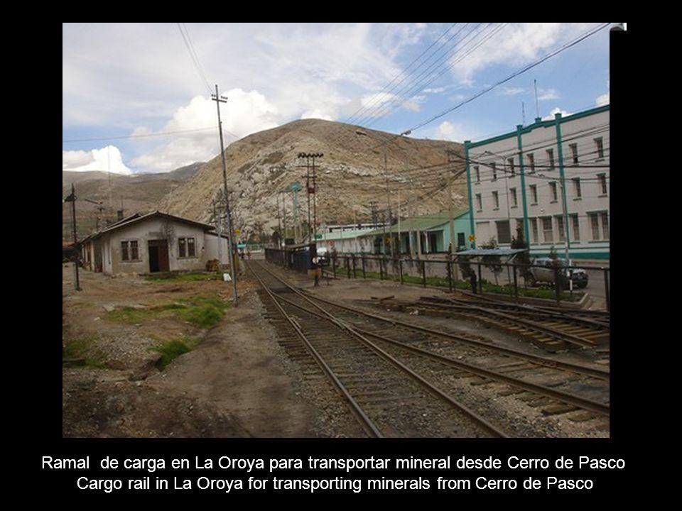 Establecimiento metalúrgico en La Oroya ( Km 222 ) Metalurgic place in La Oroy (km 222)