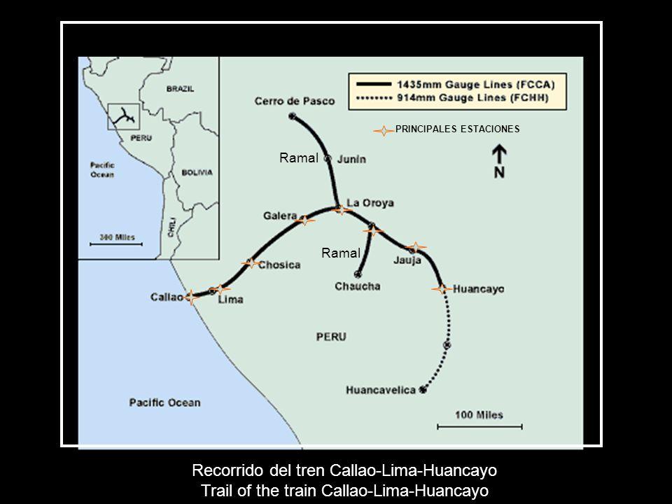 Recorrido del tren Callao-Lima-Huancayo Trail of the train Callao-Lima-Huancayo PRINCIPALES ESTACIONES Ramal