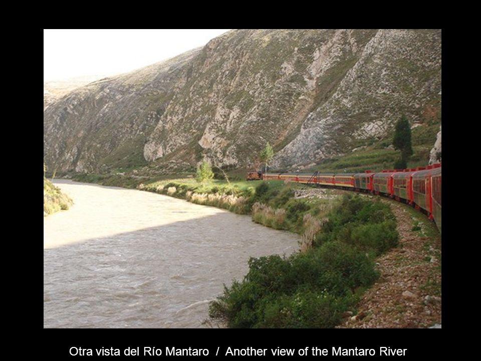 Bordeando el río Mantaro – Chacapalca - Km 256 - ( 3545 m ) Bordering the Mantaro River – Chacapalca. Km 256 – (3545 m)