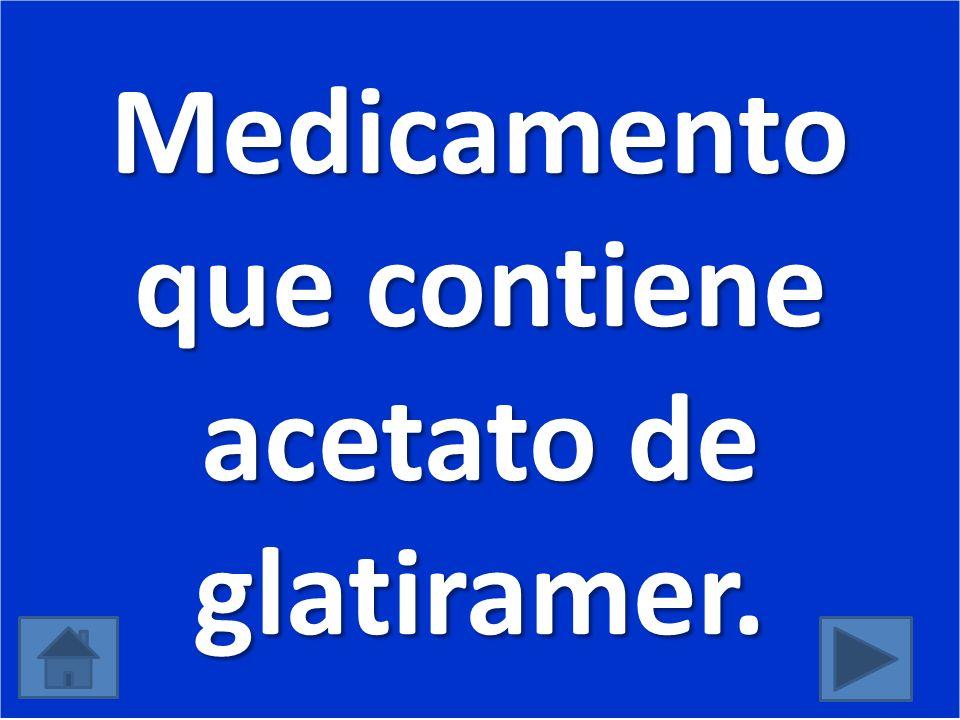 Medicamento que contiene acetato de glatiramer.