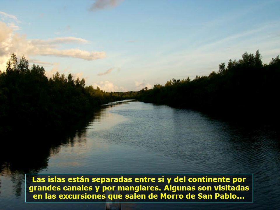 El Archipielago de Tinharé se compone de 26 islas y es el único município-archipielago de Brasil: La capital es Cairu, con sede en la isla del mismo n