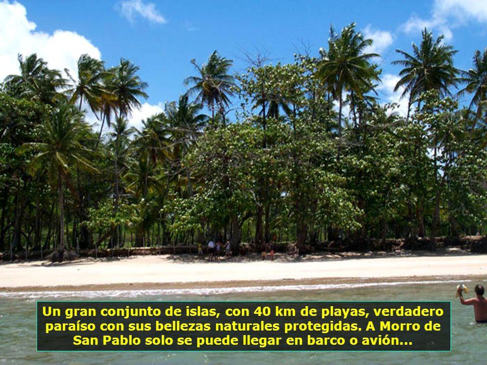 Las islas están separadas entre si y del continente por grandes canales y por manglares. Algunas son visitadas en las excursiones que salen de Morro d