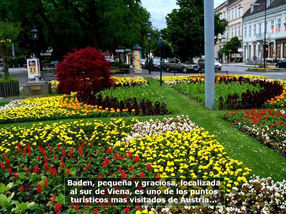 Baden, pequeña y graciosa, localizada al sur de Viena, es uno de los puntos turísticos mas visitados de Áustria...