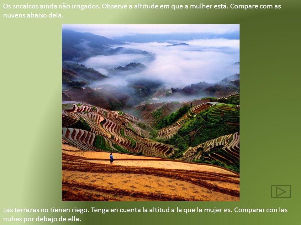 As fotos são das montanhas de Ailao e ficam no distrito de Yuanyang, província de Yunnan, no sul da China. O povo que habita a região pertence à minor
