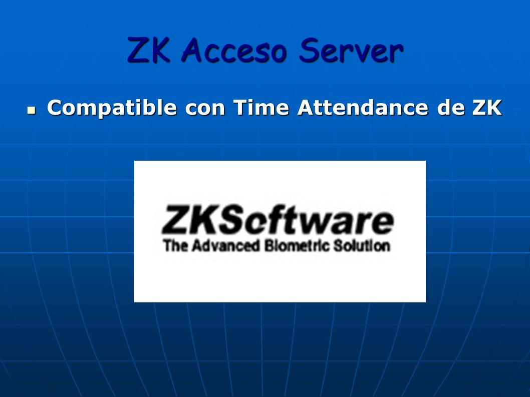 ZK Acceso Server Compatible con Time Attendance de ZK Compatible con Time Attendance de ZK