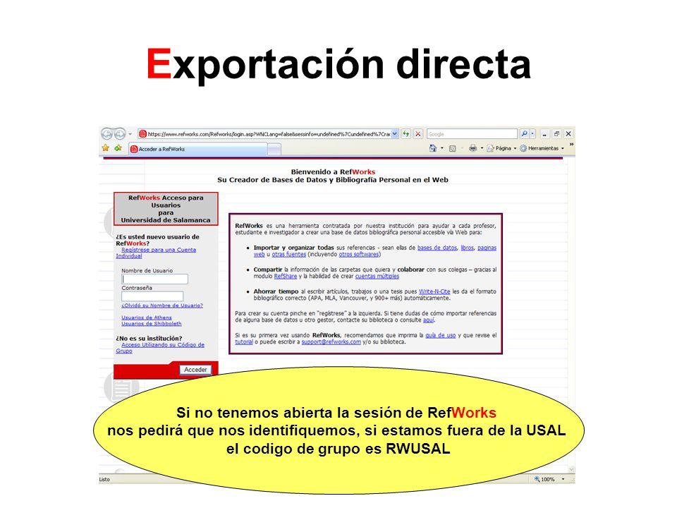Exportación directa