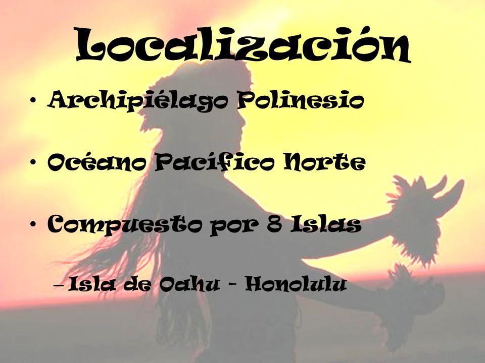 Localización Archipiélago Polinesio Océano Pacífico Norte Compuesto por 8 Islas – Isla de Oahu - Honolulu