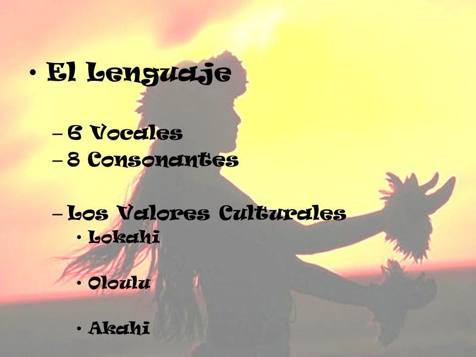 El Lenguaje – 6 Vocales – 8 Consonantes – Los Valores Culturales Lokahi Oloulu Akahi