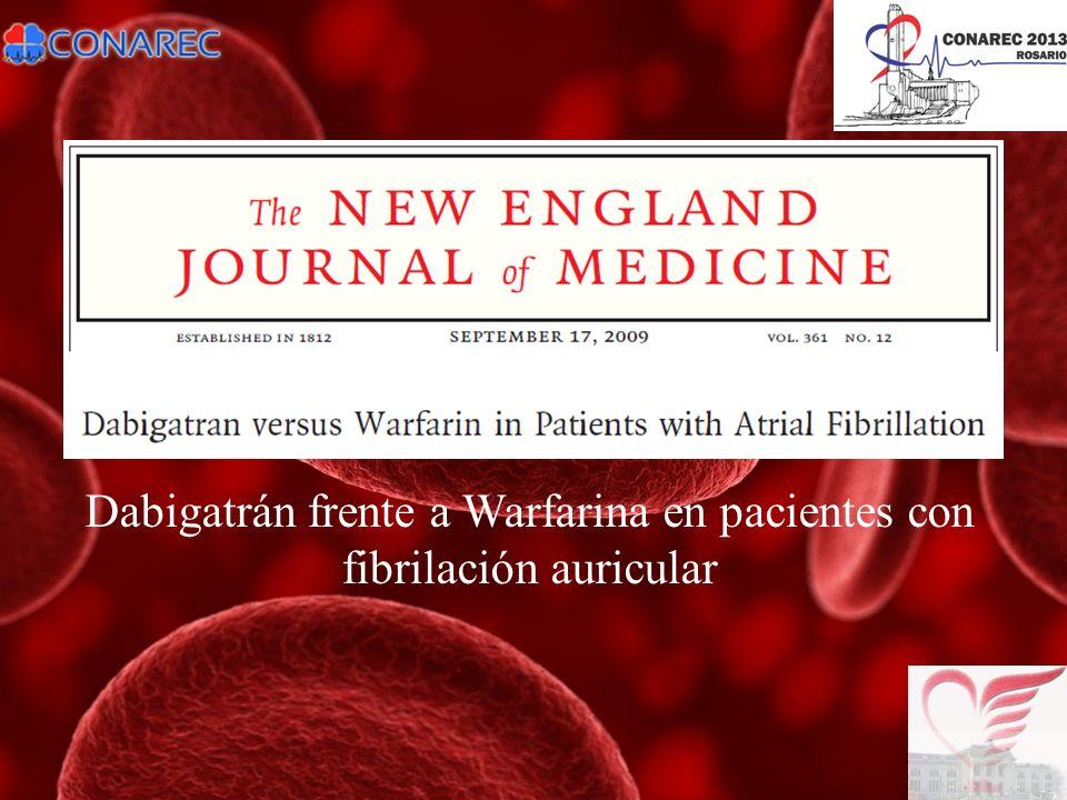 Dabigatrán frente a Warfarina en pacientes con fibrilación auricular