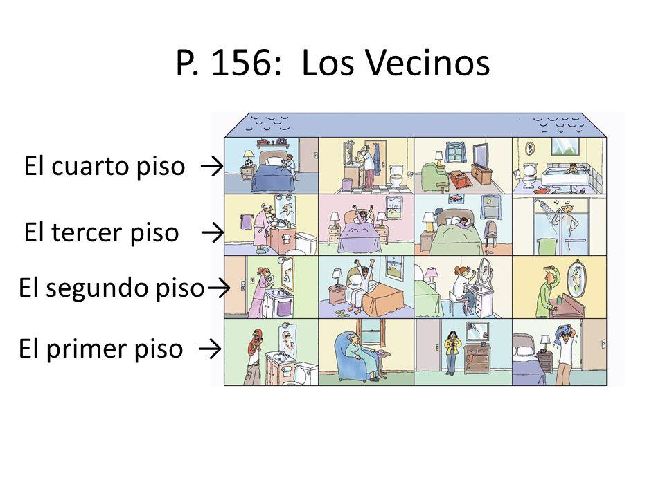 P. 156: Los Vecinos El primer piso El segundo piso El tercer piso El cuarto piso