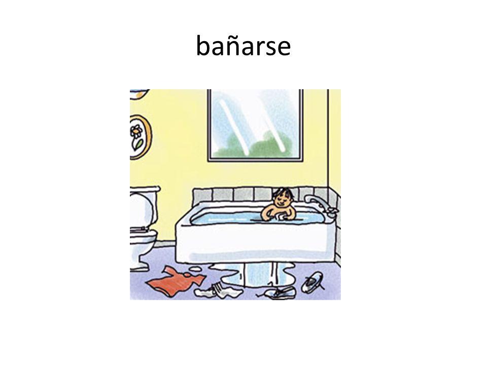 bañarse