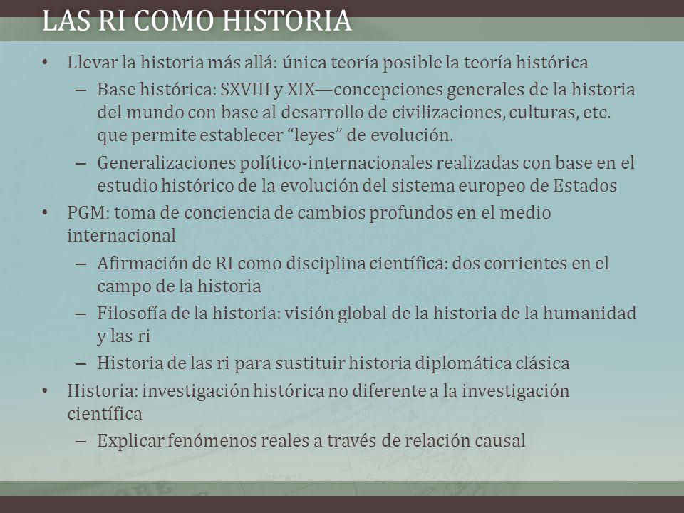 Llevar la historia más allá: única teoría posible la teoría histórica – Base histórica: SXVIII y XIXconcepciones generales de la historia del mundo co