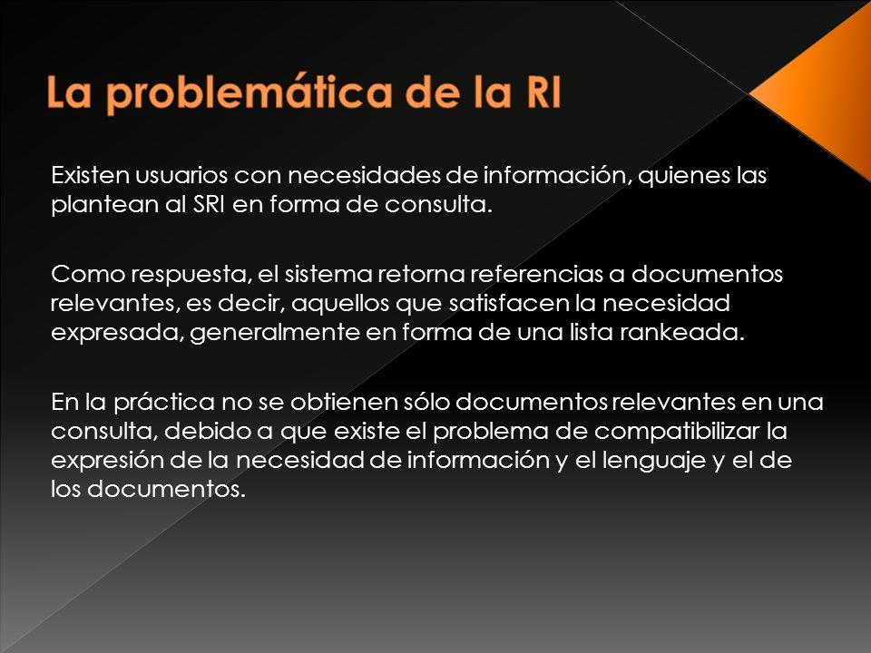 Existen usuarios con necesidades de información, quienes las plantean al SRI en forma de consulta.