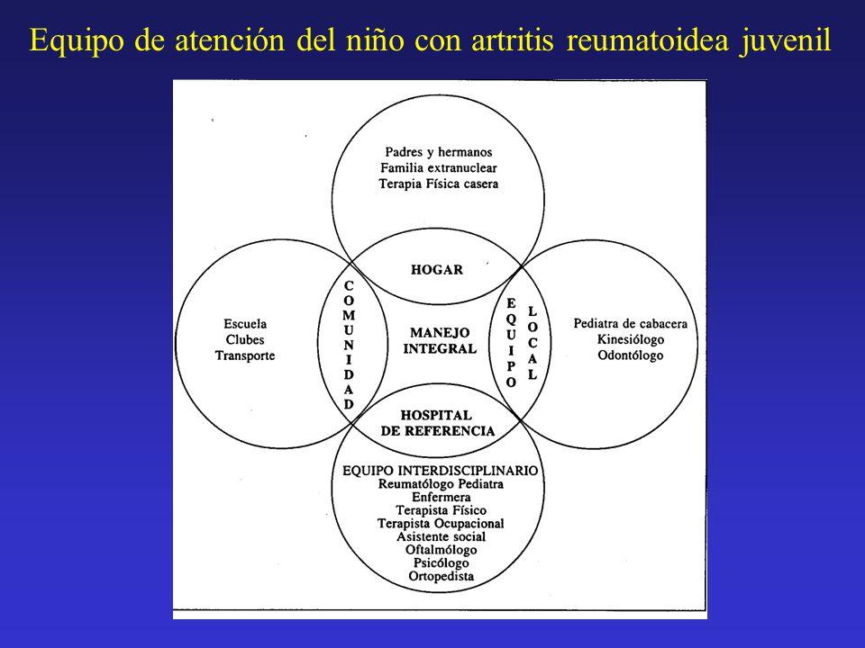 . Equipo de atención del niño con artritis reumatoidea juvenil