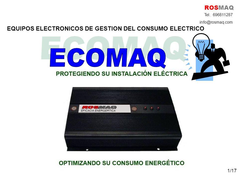Equipos Eficiencia Energética Complemento perfecto para cualquier instalación eléctrica: de potencia superior a 10 KW ROSMAQ Tel.: 696811287 info@rosmaq.com 2/17