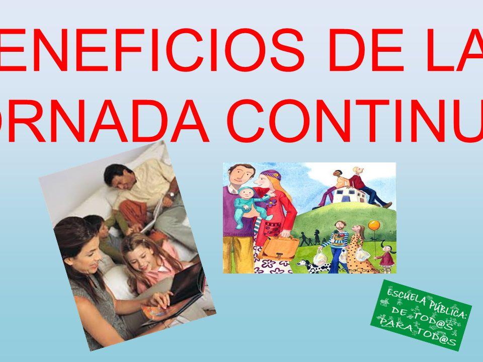 BENEFICIOS DE LA JORNADA CONTINUA