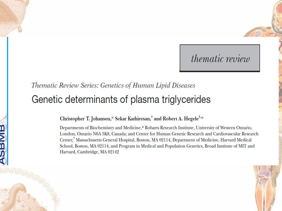 GWAS DE HIPERTRIGLICERIDEMIA HTG se define como una concentración de TG plasmáticos en ayuno mayor al percentil 95.