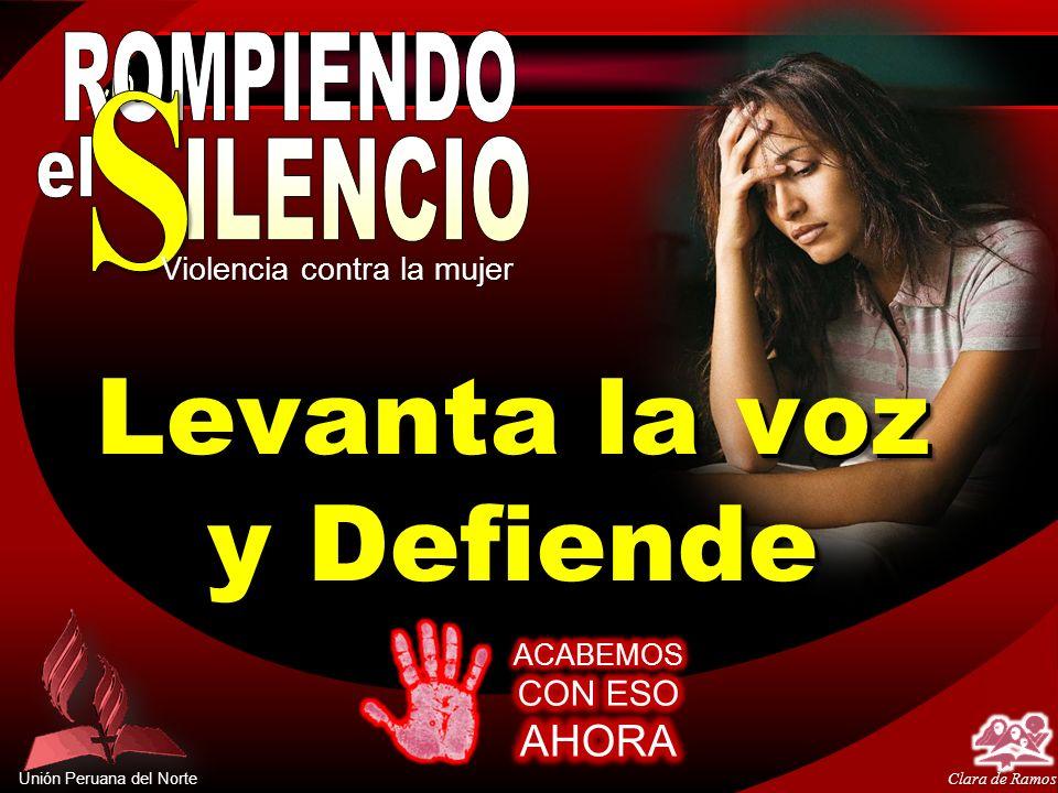 Unión Peruana del Norte El papel de la iglesia Proteger a la víctima del agresor Proteger a la víctima del agresor Detener la violencia del agresor Detener la violencia del agresor Restaurar, si fuera posible, el matrimonio y la familia.