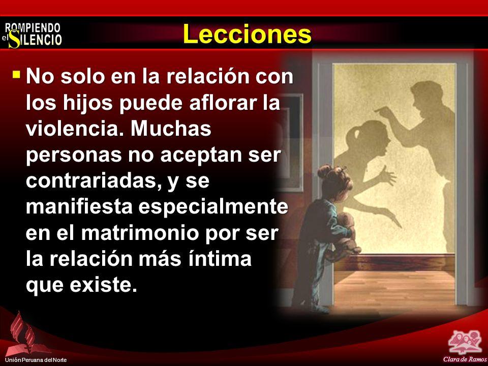 Unión Peruana del Norte No solo en la relación con los hijos puede aflorar la violencia. Muchas personas no aceptan ser contrariadas, y se manifiesta